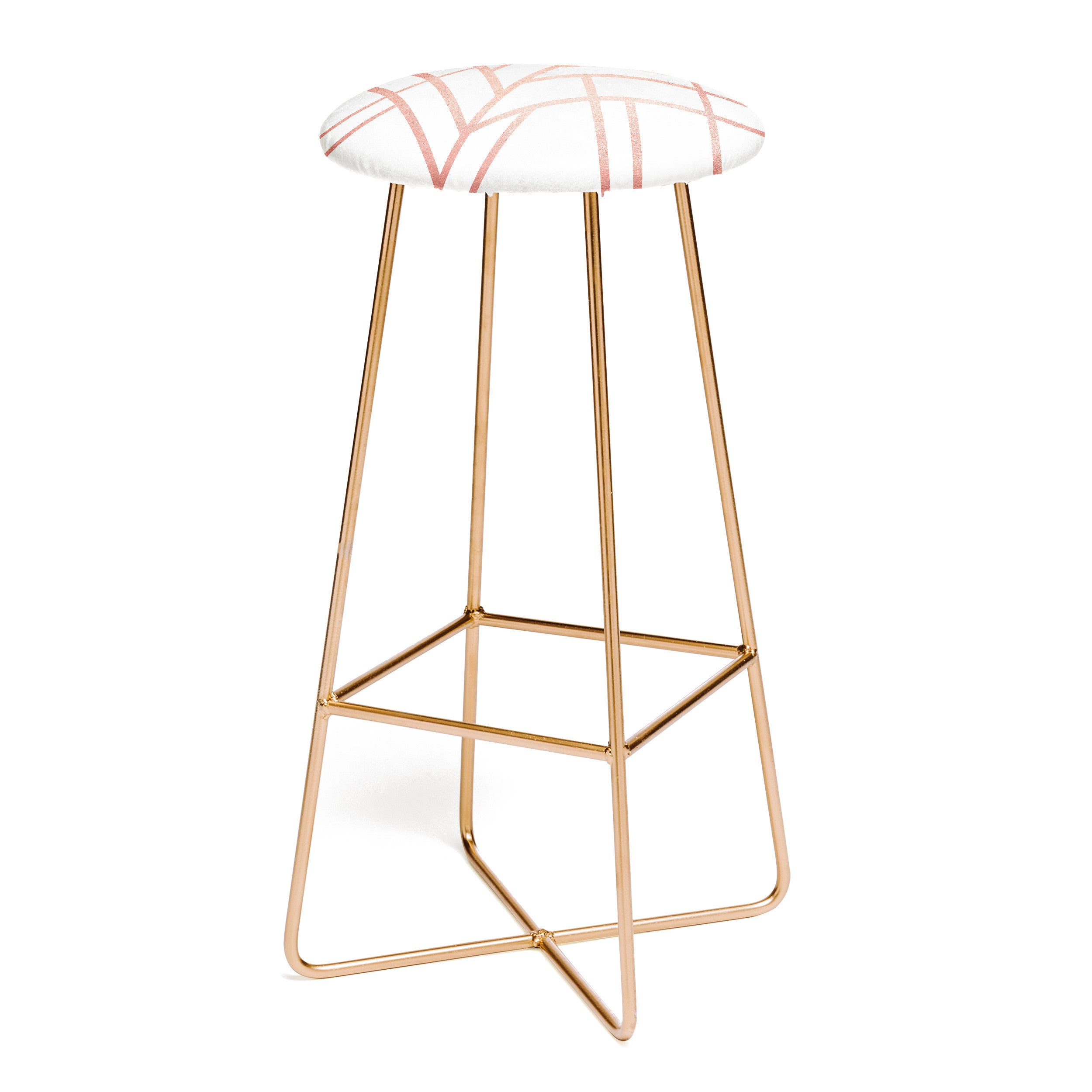 Elisabeth Fredriksson Art Deco Rose Gold Bar Stool