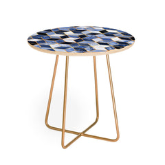 Elisabeth Fredriksson Blue Cubes Round Side Table
