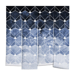 Elisabeth Fredriksson Blue Hexagons And Diamonds Wall Mural