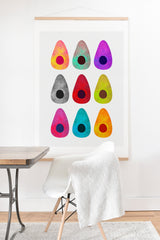 Elisabeth Fredriksson Colored Avocados Art Print And Hanger