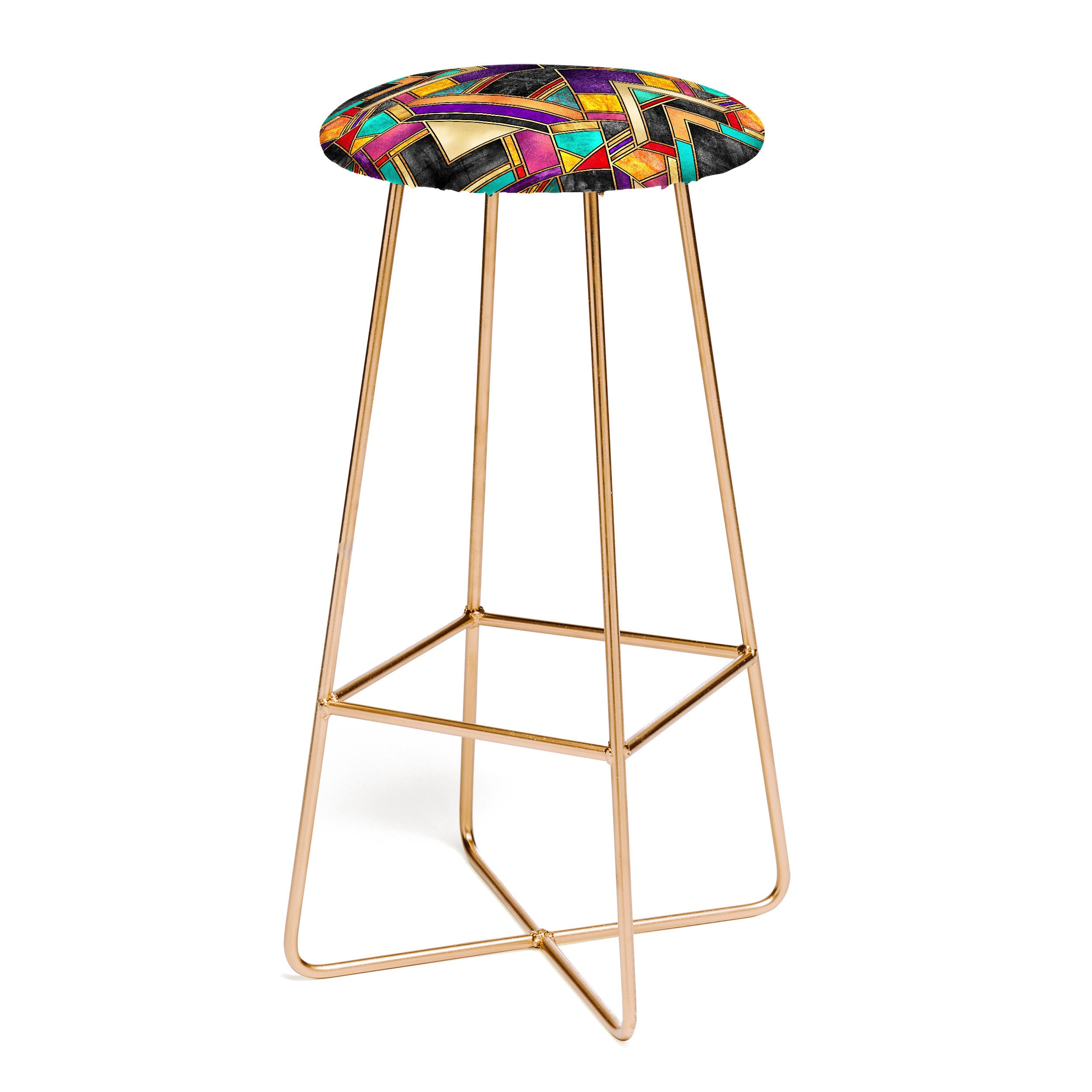 Elisabeth Fredriksson Colorful Art Deco Bar Stool