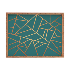 Elisabeth Fredriksson Copper and Teal Rectangular Tray