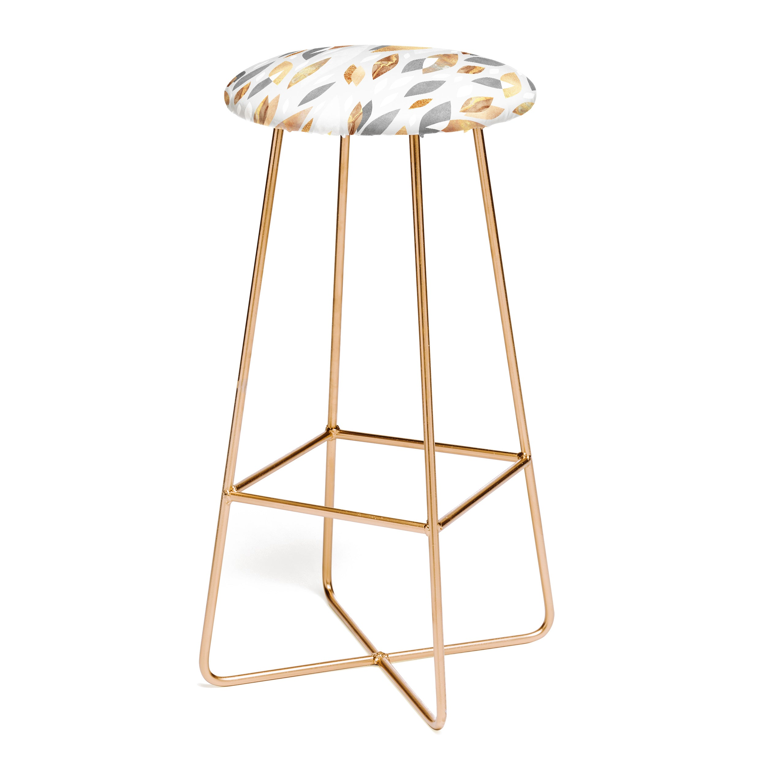 Elisabeth Fredriksson Falling Gold Leaves Bar Stool