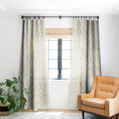 Elisabeth Fredriksson Golden Geo Blackout Window Curtain