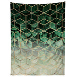 Elisabeth Fredriksson Leaves And Cubes Tapestry
