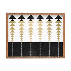 Elisabeth Fredriksson Triangles In Gold Rectangular Tray