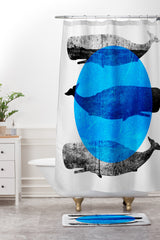 Elisabeth Fredriksson Whales Shower Curtain And Mat