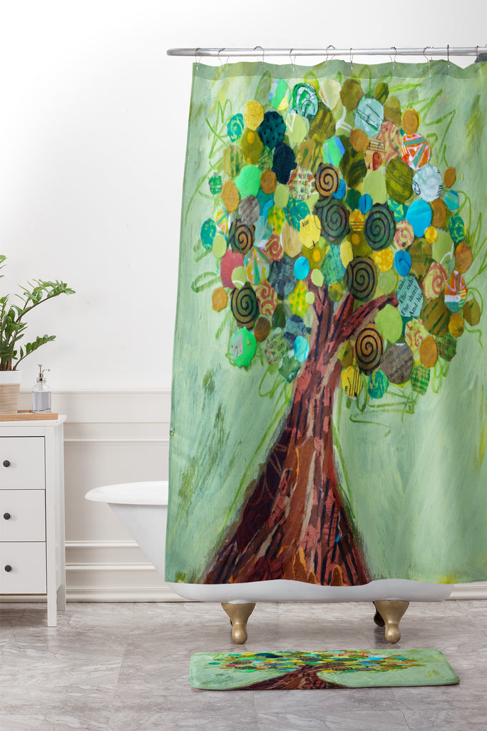 Spring Tree Shower Curtain And Mat Elizabeth St Hilaire