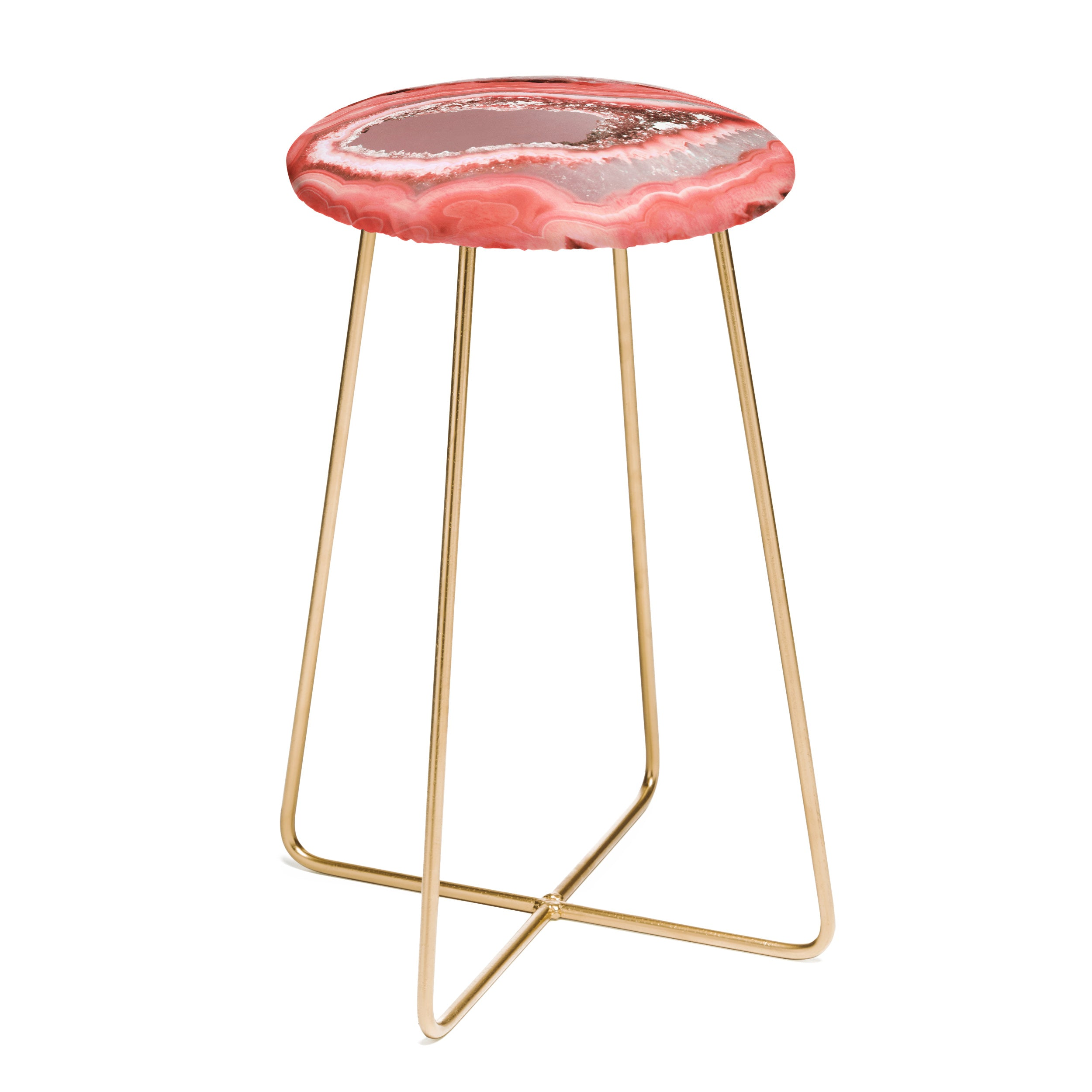 Emanuela Carratoni Coral Agate Counter Stool