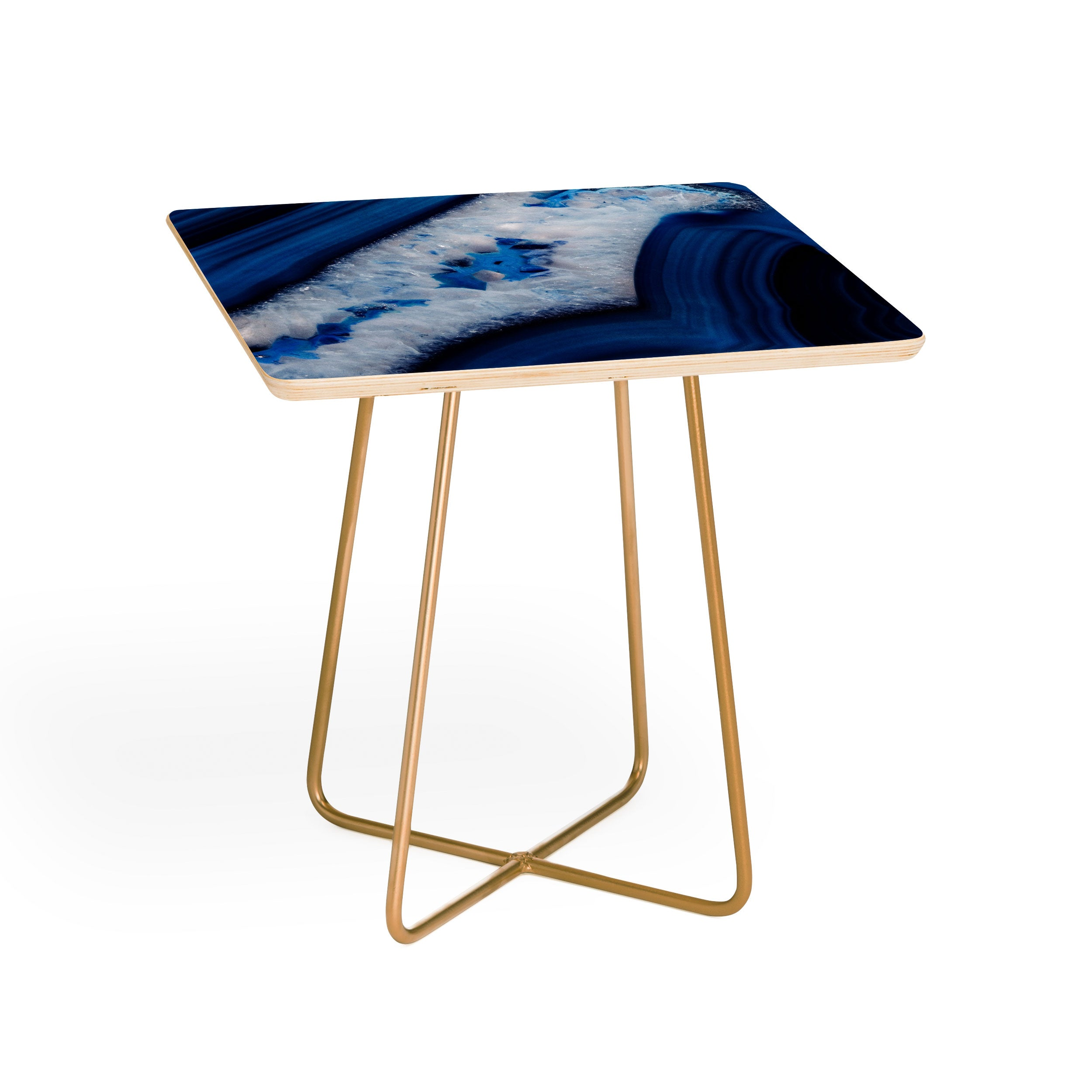Deep Blue Agate Side Table Emanuela Carratoni