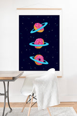 Evgenia Chuvardina Sugar rings of Saturn Art Print And Hanger