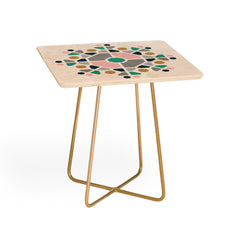 Fimbis Scandi Octagon Square Side Table