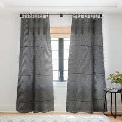 Fimbis Ses Black and White Sheer Window Curtain