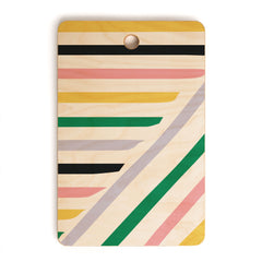 Fimbis Spring in Stripes Cutting Board Rectangle
