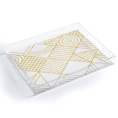Fimbis Whackadoodle White and Gold Acrylic Tray