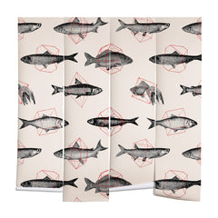 Florent Bodart Fishes In Geometrics Wall Mural