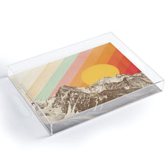 Florent Bodart Mountainscape 1 Acrylic Tray