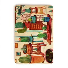 Francisco Fonseca big cactus room Cutting Board Rectangle