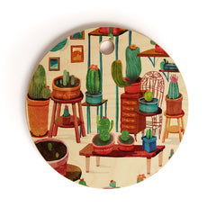 Francisco Fonseca big cactus room Cutting Board Round