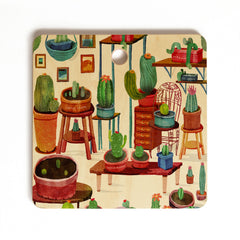 Francisco Fonseca big cactus room Cutting Board Square