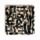 Francisco Fonseca black hands Cutting Board Square