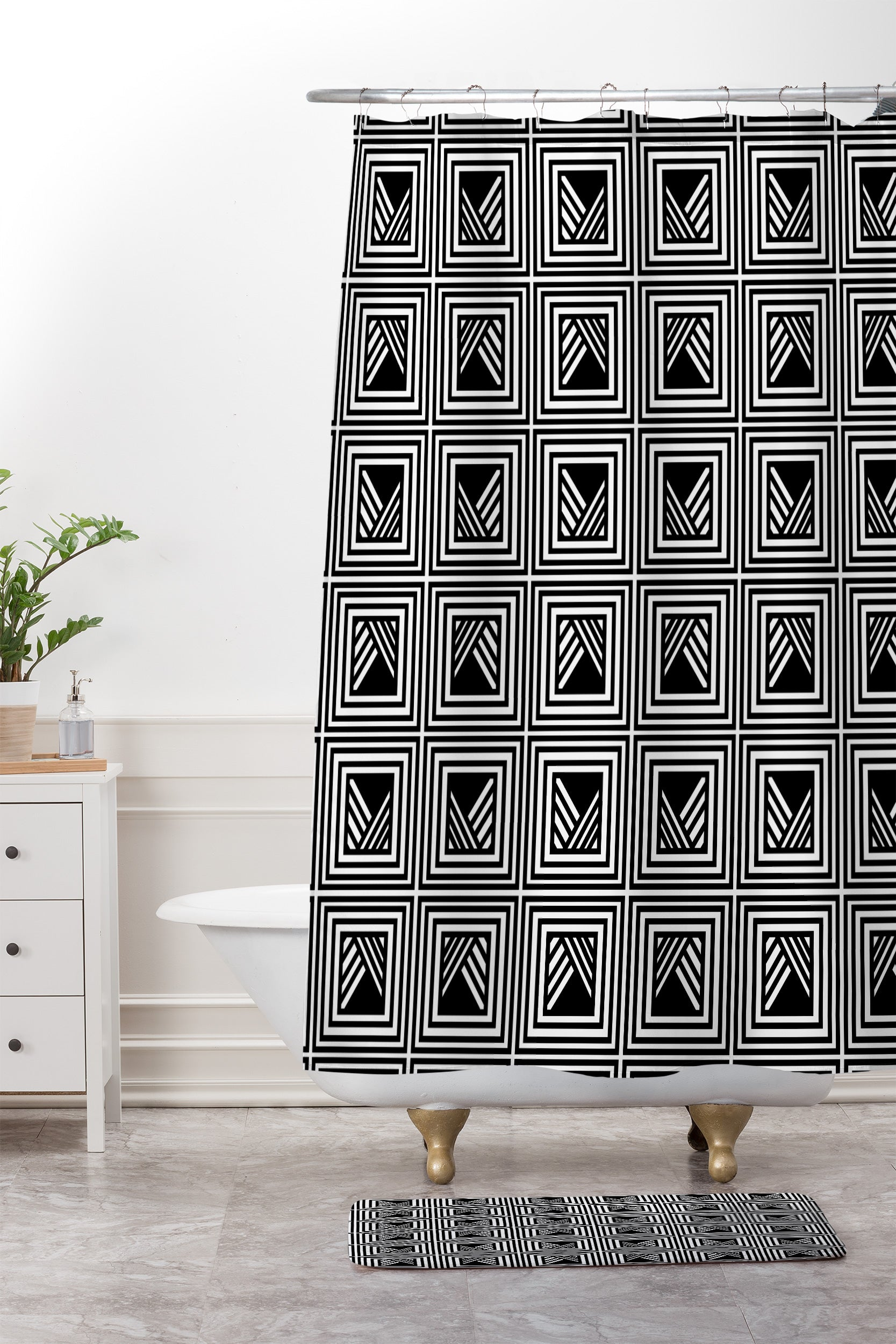 Gabriela Fuente Dany Shower Curtain And Mat