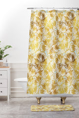 Gabriela Fuente just gold Shower Curtain And Mat