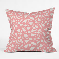 Gabriela Fuente PInk LIfe Outdoor Throw Pillow