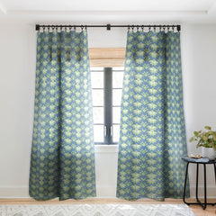 Gabriela Fuente Winter patch Sheer Window Curtain
