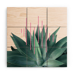 Gale Switzer Agave Geometrics II pink Wood Wall Mural