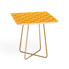Gale Switzer Daisy stitch yellow Side Table