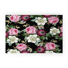 Gale Switzer Floral Enchant night Welcome Mat
