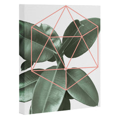 Gale Switzer Geometric Greenery Art Canvas