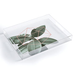 Gale Switzer Geometric Greenery Acrylic Tray