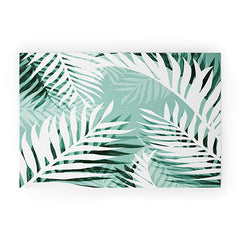 Gale Switzer Tropical Bliss jungle green Welcome Mat