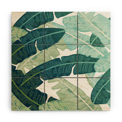 Gale Switzer Tropical oasis Wood Wall Mural