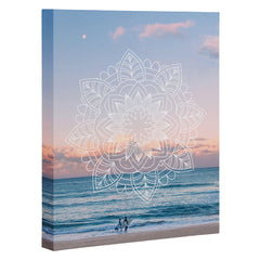 Gale Switzer Twilight Surf Mandala Art Canvas