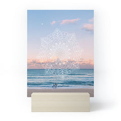 Gale Switzer Twilight Surf Mandala Mini Art Print
