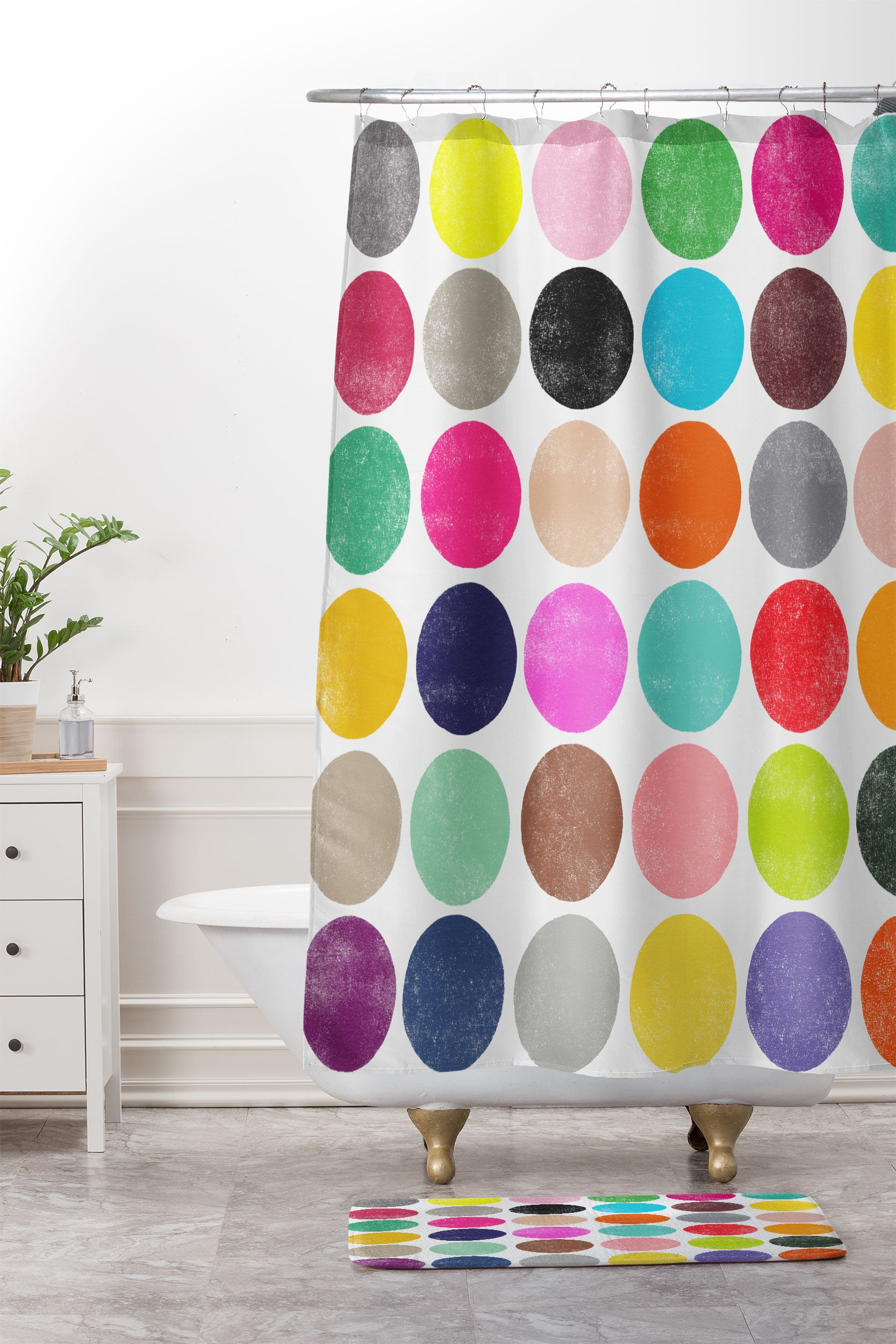 Colorplay 16 Shower Curtain And Mat Garima Dhawan The