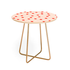 Garima Dhawan Vintage Dots Red Round Side Table