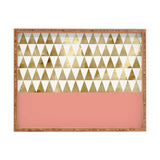 Georgiana Paraschiv Gold Triangles Rectangular Tray