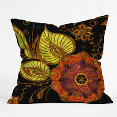 Gina Rivas Design Exotic Floral Outdoor Throw Pillow