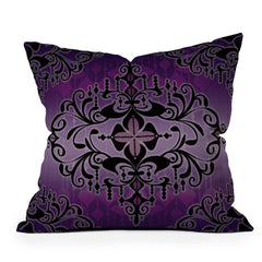 Gina Rivas Design Purple Romance Throw Pillow
