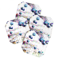 Ginette Fine Art Abstract Allium Magic Coaster Set