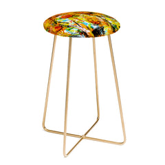Ginette Fine Art Abstract Sunflowers Counter Stool