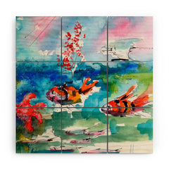 Ginette Fine Art Clownfish Wood Wall Mural