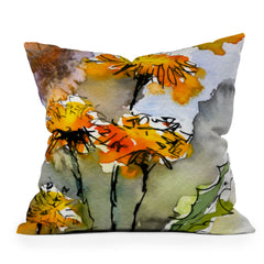 Ginette Fine Art Dandelions Throw Pillow