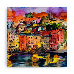 Ginette Fine Art Dolce Vita In Vernazza Wood Wall Mural