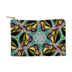 Ginette Fine Art Expressive Black Butterfly Pouch
