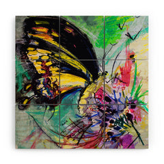 Ginette Fine Art Expressive Black Butterfly Wood Wall Mural